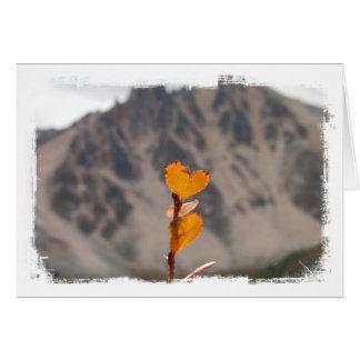 Heart-Shaped Leaf Card