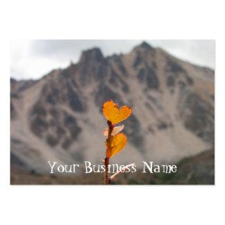 Heart-Shaped Leaf Large Business Card