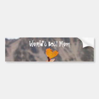 Heart-Shaped Leaf; Mother's Day Bumper Sticker