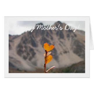 Heart-Shaped Leaf; Mother's Day Card