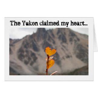 Heart-Shaped Leaf; Yukon Territory Souvenir Card