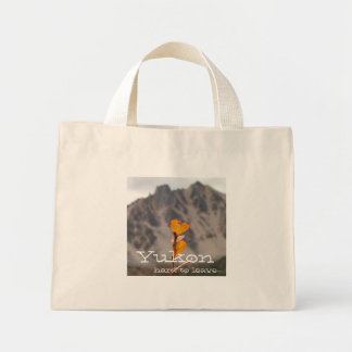 Heart-Shaped Leaf; Yukon Territory Souvenir Mini Tote Bag