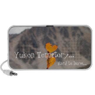 Heart-Shaped Leaf; Yukon Territory Souvenir Portable Speaker