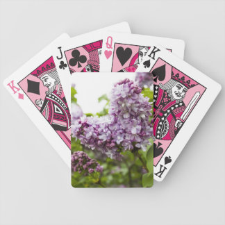 Heart Shaped Lilac Flowers Bicycle Playing Cards