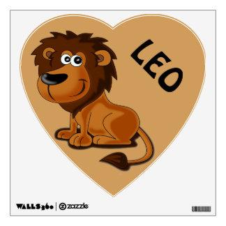 Heart Shaped Little Lion Kids Custom Name Wall Sticker