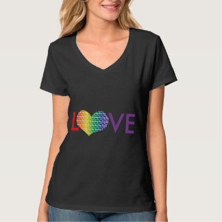 Heart Shaped LOVE in Rainbow colours Tee Shirt