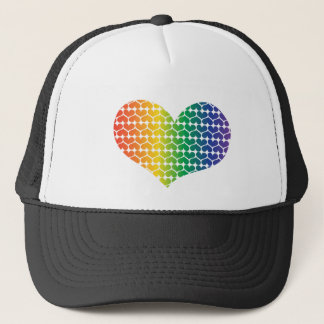 Heart Shaped LOVE in Rainbow colours Trucker Hat