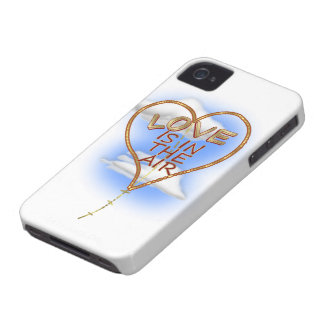 """Heart Shaped """"Love Is In The Air"""" iPhone 4 Case-Mate Cases"""