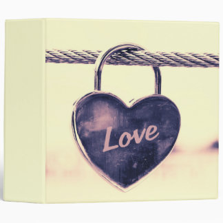 Heart Shaped Love Padlock Attached to a Rope Binder