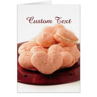 Heart Shaped Macarons Card