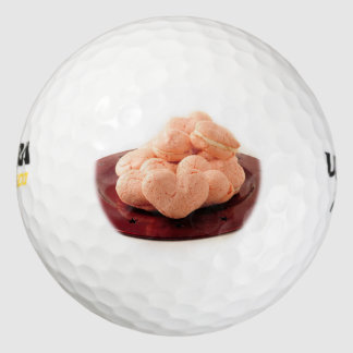 Heart Shaped Macrons Pack Of Golf Balls