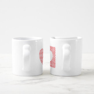 heart shaped maze coffee mug set