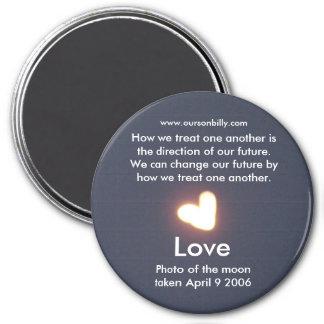 Heart shaped moon magnet