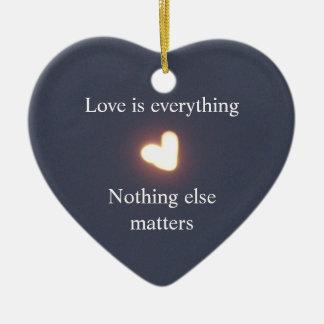 Heart-shaped moon ornament