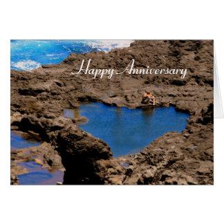 Heart-Shaped Ocean Tide Pool, Maui, Anniversary Card