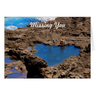 Heart Shaped Ocean Tide Pool, Maui, Missing You Card