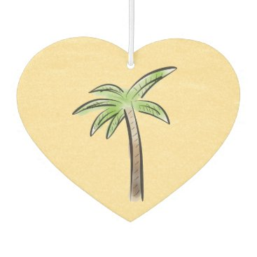 Valentines Themed Heart shaped Palm tree Air Freshener