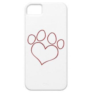 Heart Shaped Paw Print Dog Cat Puppy Kitten iPhone SE/5/5s Case