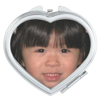 Heart Shaped Photo Compact Mirrirs Compact Mirror