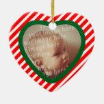 Heart Shaped Photo Frame Christmas Ornaments