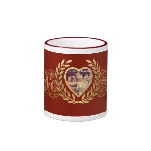 Heart Shaped Photo Frame Coffee Mugs