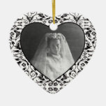 Heart Shaped Photo Frame Floral Christmas Ornaments