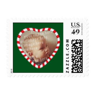 Heart Shaped Photo Frame Postage Stamps