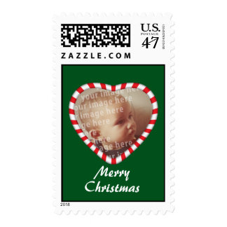 Heart Shaped Photo Frame Postage Stamp