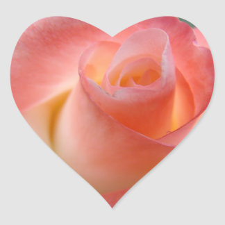 Heart shaped Pink Rose stickers Valentines Love