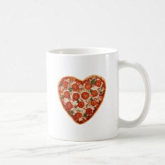 heart shaped pizza coffee mug