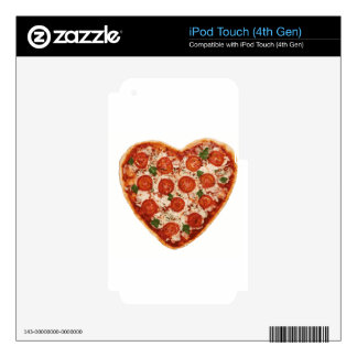 heart shaped pizza iPod touch 4G decal
