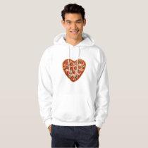 heart shaped pizza mens hooded hoodie sweatshirt