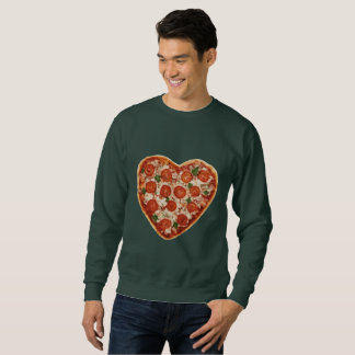 heart shaped pizza mens sweatshirt