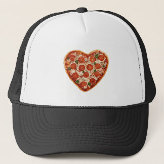 heart shaped pizza trucker hat