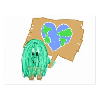 Heart Shaped Planet Earth Postcard
