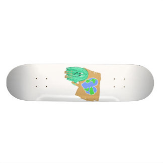 Heart Shaped Planet Earth Skate Boards