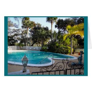 Heart Shaped Pool River Lily Inn - Daytona Beach Card