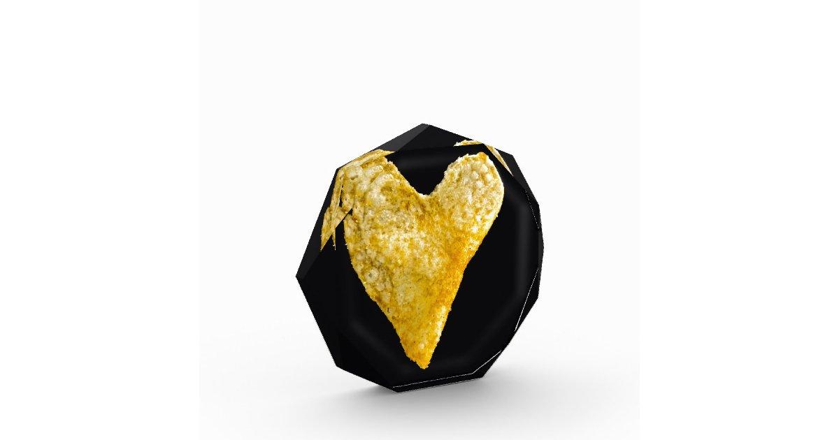 Heart Shaped Potato Chip Award Zazzle