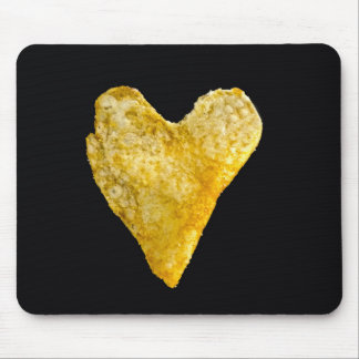 Heart Shaped Potato Chip Mouse Pad