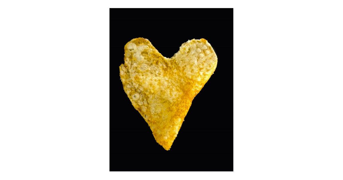 Heart Shaped Potato Chip Postcard Zazzle