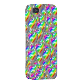 Heart Shaped Rainbow Balloons iPhone 4 Cases