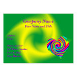 Heart Shaped Rainbow Twirl Large Business Cards (Pack Of 100)