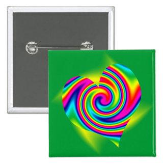 Heart Shaped Rainbow Twirl Pins