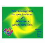 Heart Shaped Rainbow Twirl Personalized Flyer