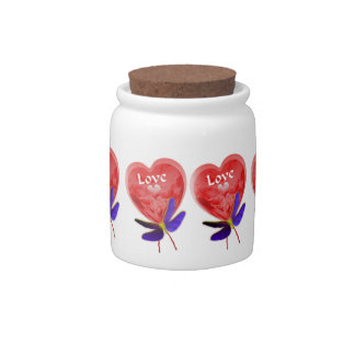Heart Shaped Red Love Balloon Candy Jars