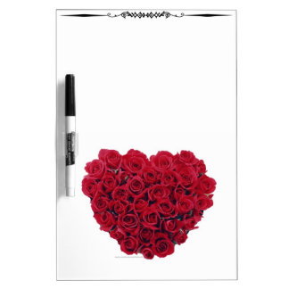 Heart Shaped Red Roses-1 DryErase Board Whiteboard