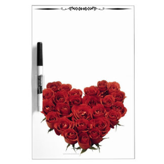 Heart Shaped Red Roses-2 DryErase Board Whiteboard