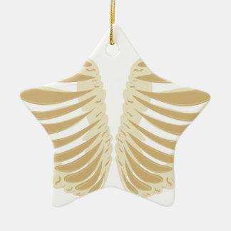 Heart Shaped Rib Cage Ceramic Ornament