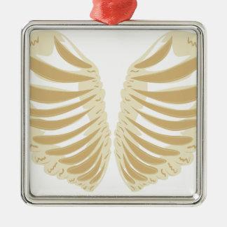 Heart Shaped Rib Cage Metal Ornament