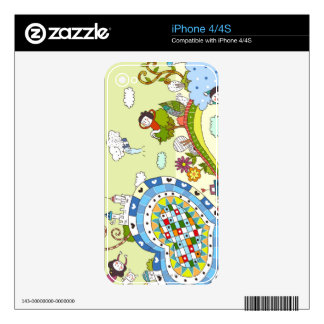 Heart -Shaped Road Decals For iPhone 4S